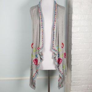 Caite Embroidered vest